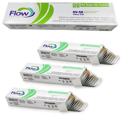 Flow Dental 18200 Dv-58 Film Value Pak Adult Size D2 150 Films