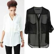 Chiffon Sheer Top Blouse