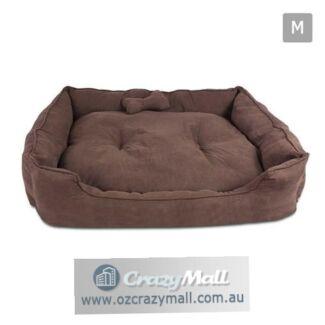 Pet Dog Warm Soft Suede Cushion w/ Washable Futon Mat All Sizes