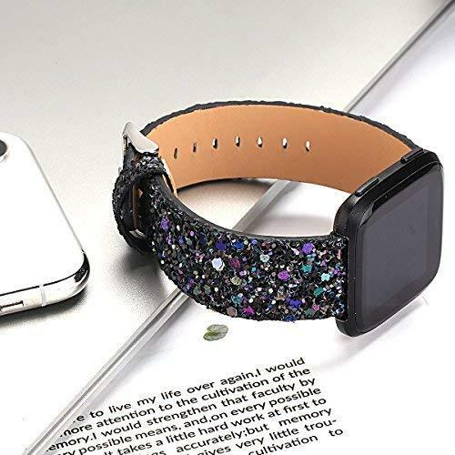 For Fitbit Versa / 2 Band Women Glitter Replacement Bracelet