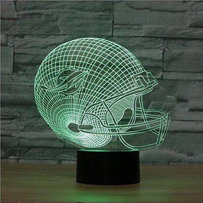 Miami Dolphins Led Tischlampe Neonschild USA 3D Neon NFL in 6 Farben Neon ()
