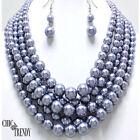 Unbranded Rhodium Pearl Fashion Jewelry Sets