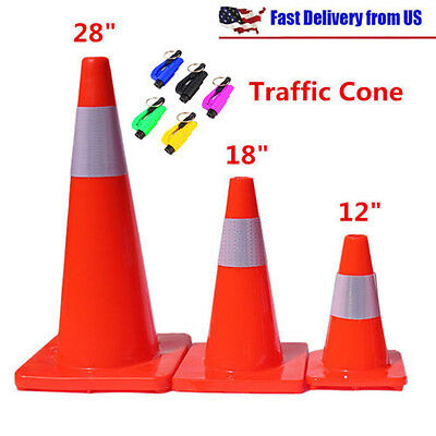 121828 Reflective Red Wide Body Safety Cones Construction Traffic Sports Mg