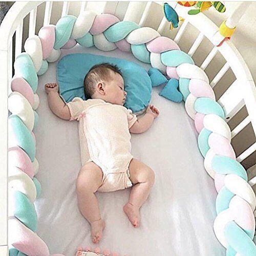 Bettschlange Zopfschlange 210 cm Baby Bettrolle Nestchen Nackenrolle Babynest