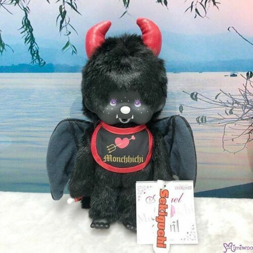 Sekiguchi Monchhichi S Size Plush Black Devil 239050 (Crack Problem on Horn)