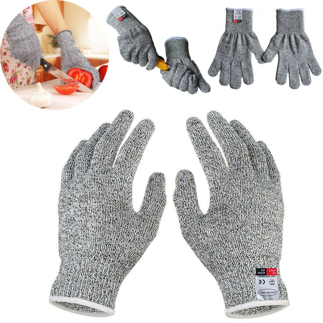 Details about Cut Resistant Gloves Anti-Cutting Food Grade Level 5 Kitchen  Butcher Protection