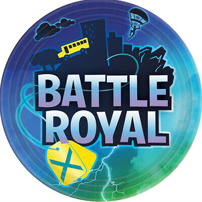 Birthday Paper Products (BATTLE ROYAL LARGE PAPER PLATES (8) ~ Birthday Party Supplies Dinner)