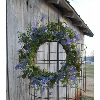 New Spring Summer Lilac PURPLE FERN BERRY WREATH Floral Grapevine -