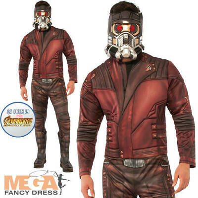 Deluxe Star-Lord Mens Fancy Dress Avengers Endgame Superhero Adults Costume New