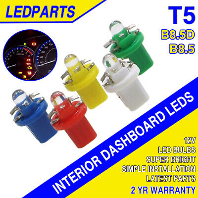 T5 B8.5D LED - 1/2/4/8/10 | Speedo Indicator Dashboard Dash Gauge Interior Bulbs