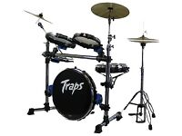 Drum Kit - Traps A400 Compact Drum Kit comes with transport bags and pads