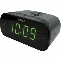 Timex T231GY AM/FM Dual Alarm Clock Radio with 1.2Inch Green Display LineIn Jack