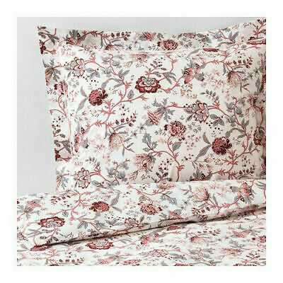 New IKEA SPRANGORT King Duvet cover Set and 2 pillowcase(s), WHITE PINK FLORAL