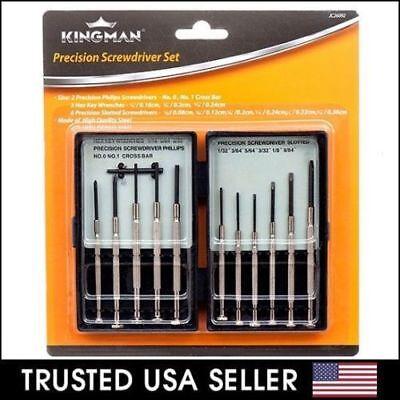 - 11 Pcs Mini Screwdriver Set Hand Tool Repair Kit for Eyeglasses Laptop Watch
