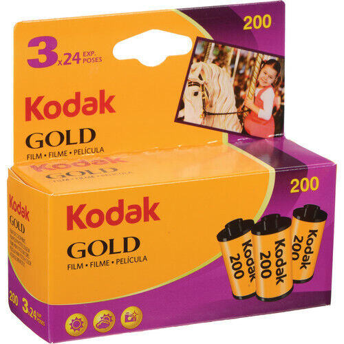 Kodak Gold 200 35mm Color Film - 3 Pack