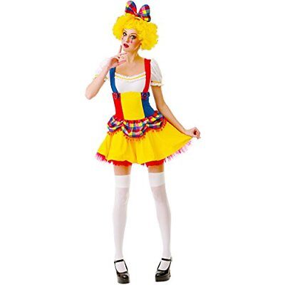 Cutie Clown Women's Halloween Costume Sexy Harlequin Circus Performer Dress