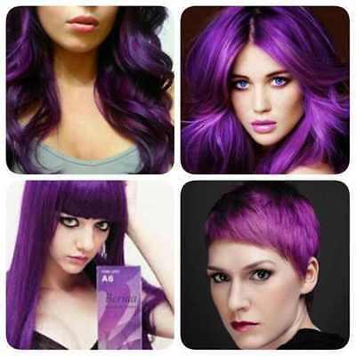 BEST!!  Berina No.A6 Violet Permanent Hair Dye Color Cream Fashion Grunge (Best Fashion Hair Color)