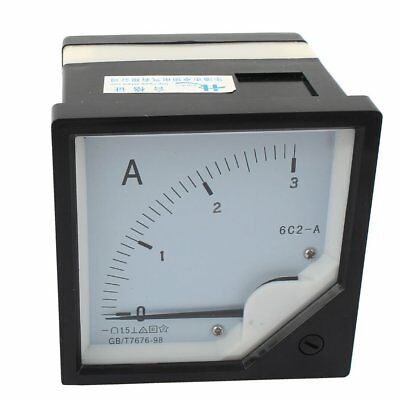 1pcs Dc 0-3a 6c2-a Direct Current Analog Ampere Panel Meter Class 1.5 Free Ship