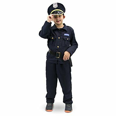 Plucky Police Officer Children's Halloween Dress Up Theme Party Roleplay Costume (Office Themed Halloween Costumes)