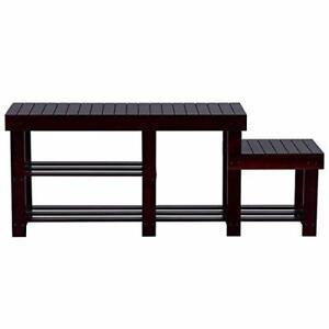 New, SONGMICS High-Low-Seat 2-Tier Entryway Shoe Bench (Open box) *PickupOnly