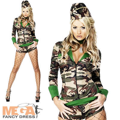 Sexy Combat Chick Army Girl Ladies Military Uniform - Combat Girl Kostüme