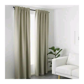 IKEA Vilborg Thermal Curtains Fully Lined | Beige