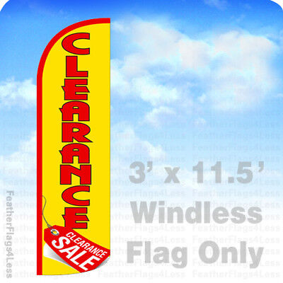 Clearance Sale - Windless Swooper Flag Feather Banner Sign 3x11.5 Yq