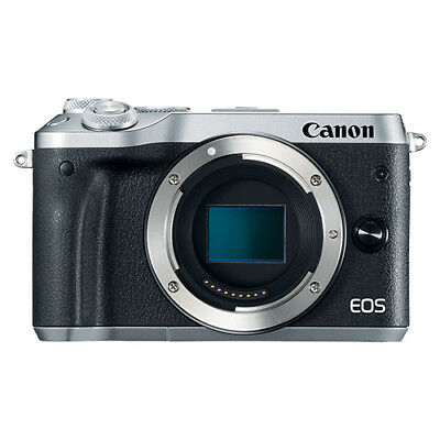 Canon EOS M6 Mirrorless 24.2MP Digital Camera Body Silver