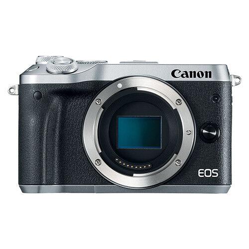 Canon EOS M6 Mirrorless 24.2MP Digital Camera Body Silver