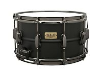 Tama S.L.P. Big Black Steel Snare Drum 14 x 8 in. (with heavily padded soft case and dampening ring)