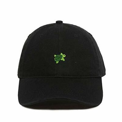 Swimming Turtle Emoji Baseball Cap Embroidered Cotton Adjustable Dad Hat