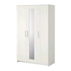 White, 3 door ikea wardrobe for sale, 145