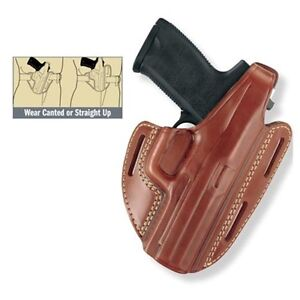 Gould & Goodrich Chestnut Brown Three Slot Pancake Holster 1911 RH 803-195