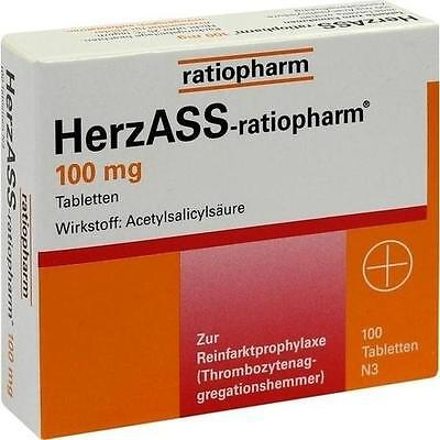 HERZASS ratiopharm 100 mg Tabletten  100St / 4561936