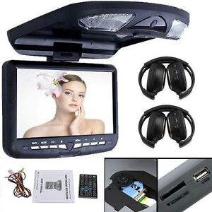 9 hd car roof mount drop down monitor overhead dvd player. Black Bedroom Furniture Sets. Home Design Ideas