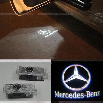 2x Ghost LED Door Courtesy Laser Light for Mercedes W203 C-Class 2001-2007 White