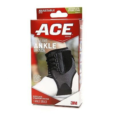 Deluxe Ankle Brace Adjustable Wrap Support Universal Stabilizer Tek Zone Ace NEW Deluxe Ankle Support