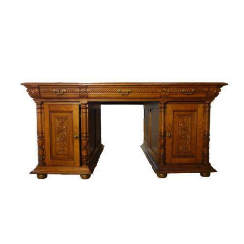 Antique Partners Desk Ebay