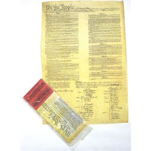 Historic Document REPLICA CONSTITUTION  OF THE U.S.A Genuine Parchment new 37290