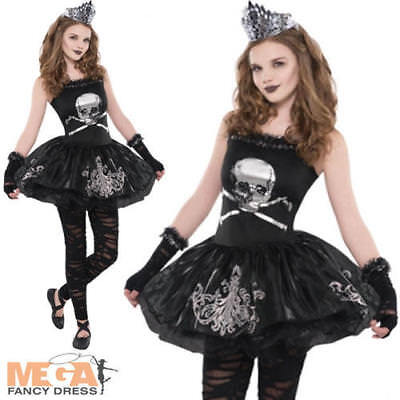 Zombie Ballerina Ages 8-16 Girls Halloween Fancy Dress Kids Teen Costume Outfit ()
