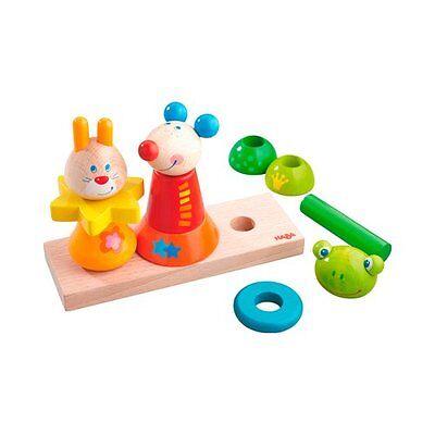 HABA Steckspiel Tiergarten aus Holz Motorik-Spielzeug Baby NEU mehrfarbig