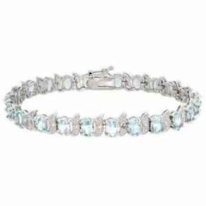 Sterling Silver Blue Topaz Bracelet