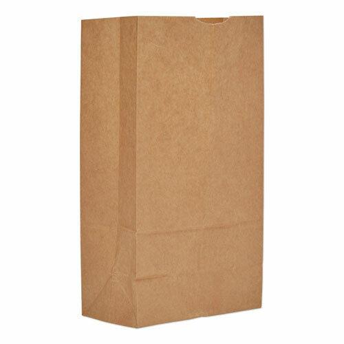"Grocery Paper Bags, 57 lbs Capacity, #12, 7.06""w x 4.5""d x 13.75""h, Kraft, 500"