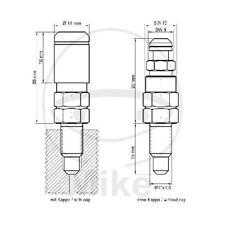 Stahl Stahlbus SB-110411 Entlüftungsschraube Ventil M10 x 1.0 x 16mm M