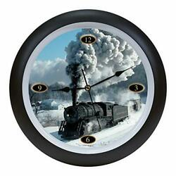 Locomotive Legends Steam Engine Train Sounds 13 Inch Hanging Wall Clock