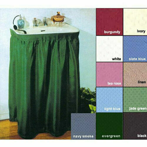 Fabric Sink Skirt Mosaic Stitch Wraps Around The Sink Choice of Colors