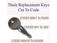 2 x Rhino Roof Tube Pipe Keys Cut to Code Codes 25001 to 27000 FREE P/&P