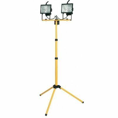 PROIETTORE ALOGENO IP44 TREPPIEDE TELESCOPICO 2 FARI FARETTI DA 400 W CAVO