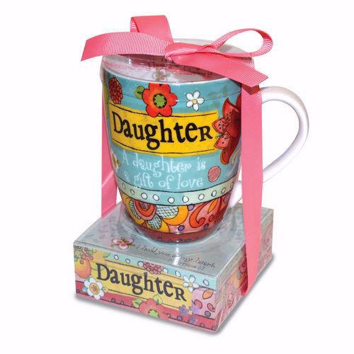 Gift Set Mug with Note Stack-Daughter Ceramic Mug 12 oz Stack of notes NEW Collectibles