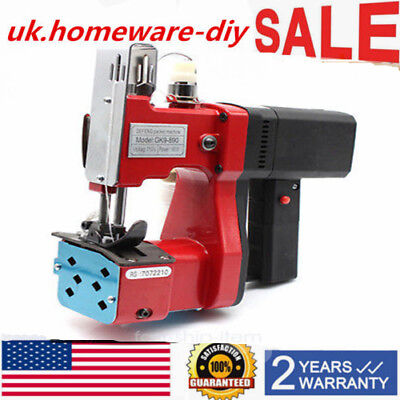 110v Industrial Electric Bag Stitching Sack Closer Seal Sewing Machinefast Ship